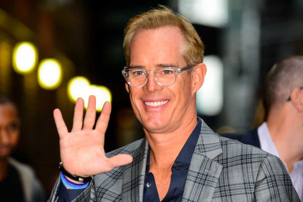 """Sportscaster Joe Buck enters the """"The Late Show With Stephen Colbert"""