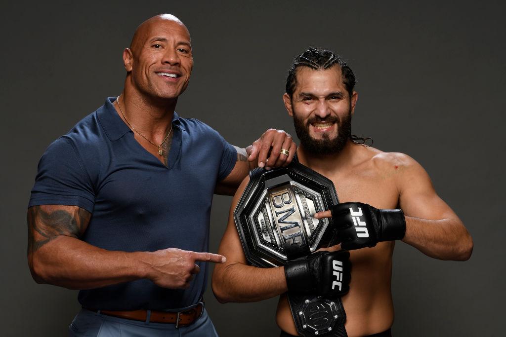 Jorge Masvidal and Dwayne 'The Rock' Johnson
