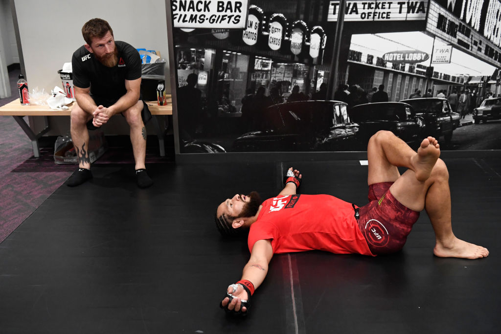 Mike Brown (left) is the coach behind UFC standout Jorge Masvidal (right).