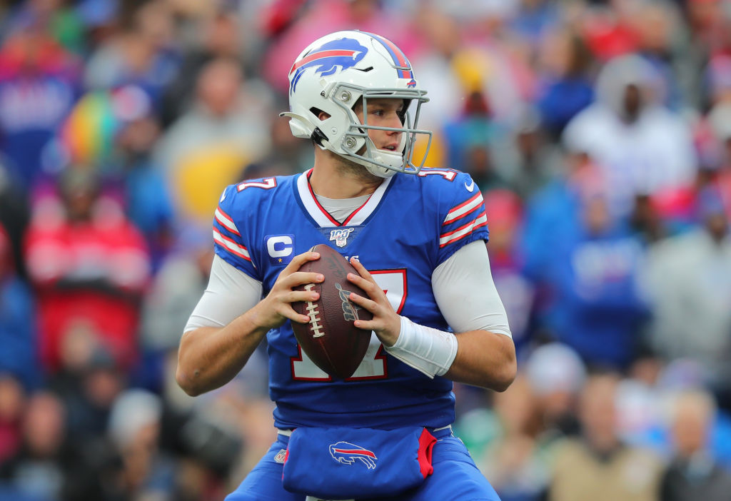 Josh Allen #17 of the Buffalo Bills