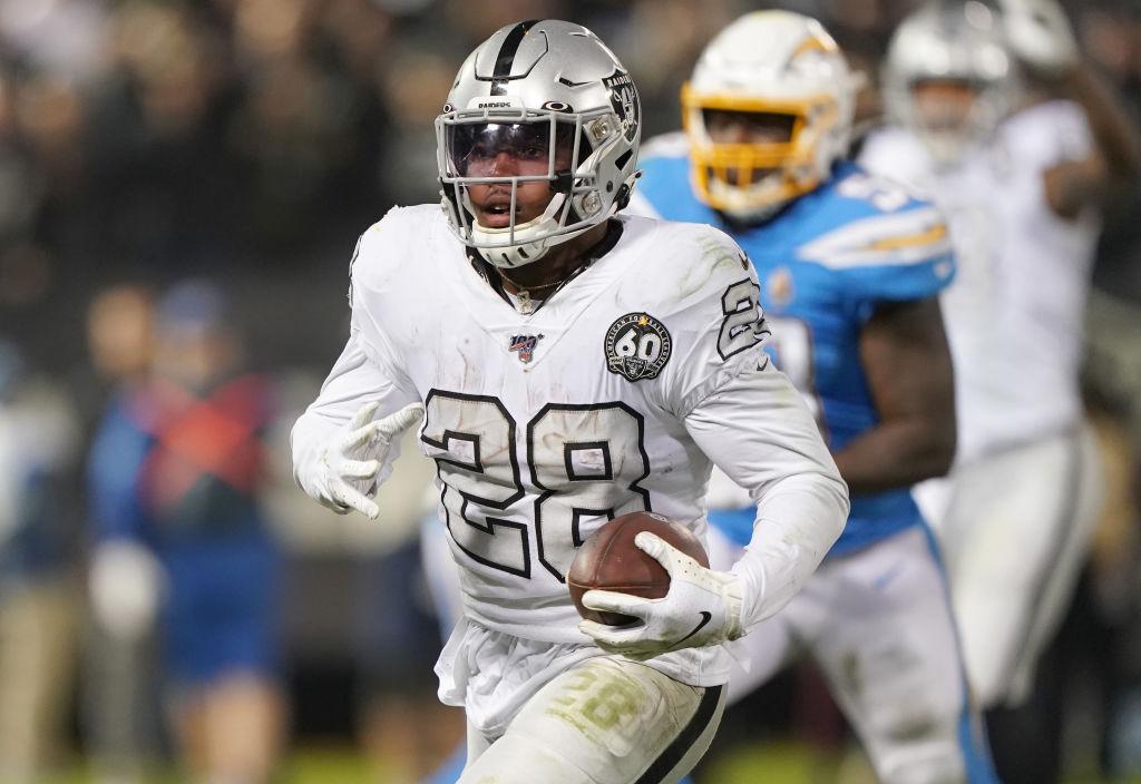 Raiders running back Josh Jacobs