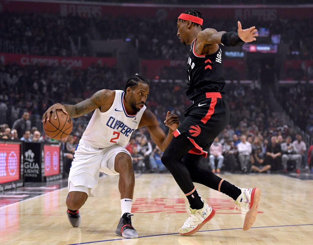 Kawhi Leonard's Los Angles Clippers topped the Toronto Raptors last night.
