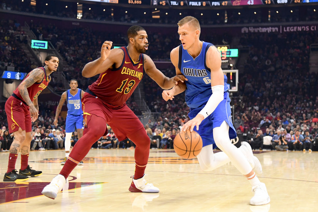Unlike most NBA stars, the Mavericks' Kristaps Porzingis was fine riding the bench at the end of a dismal game for him.