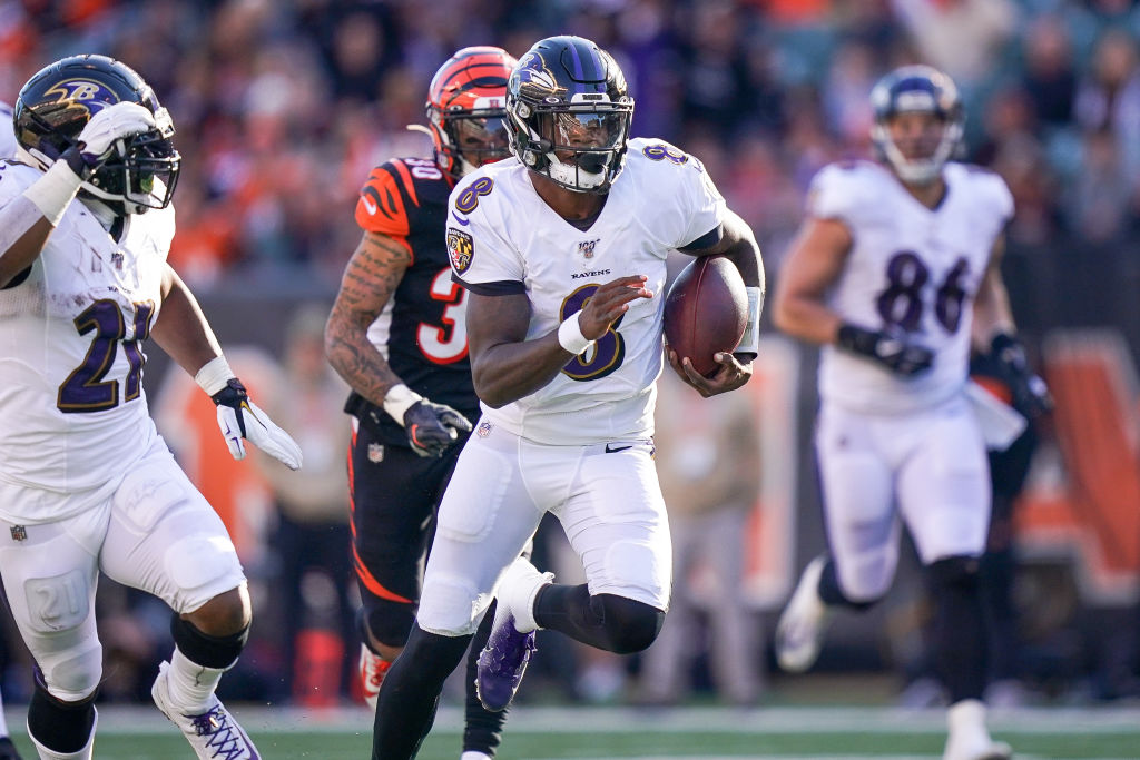 Quarterback Lamar Jackson leads an unstoppable Baltimore Ravens offense.