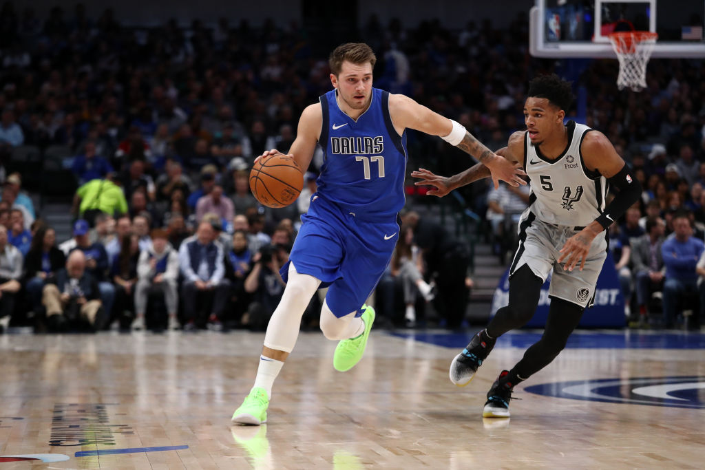 Dallas Mavericks forward Luka Doncic joined LeBron James in the NBA record books.