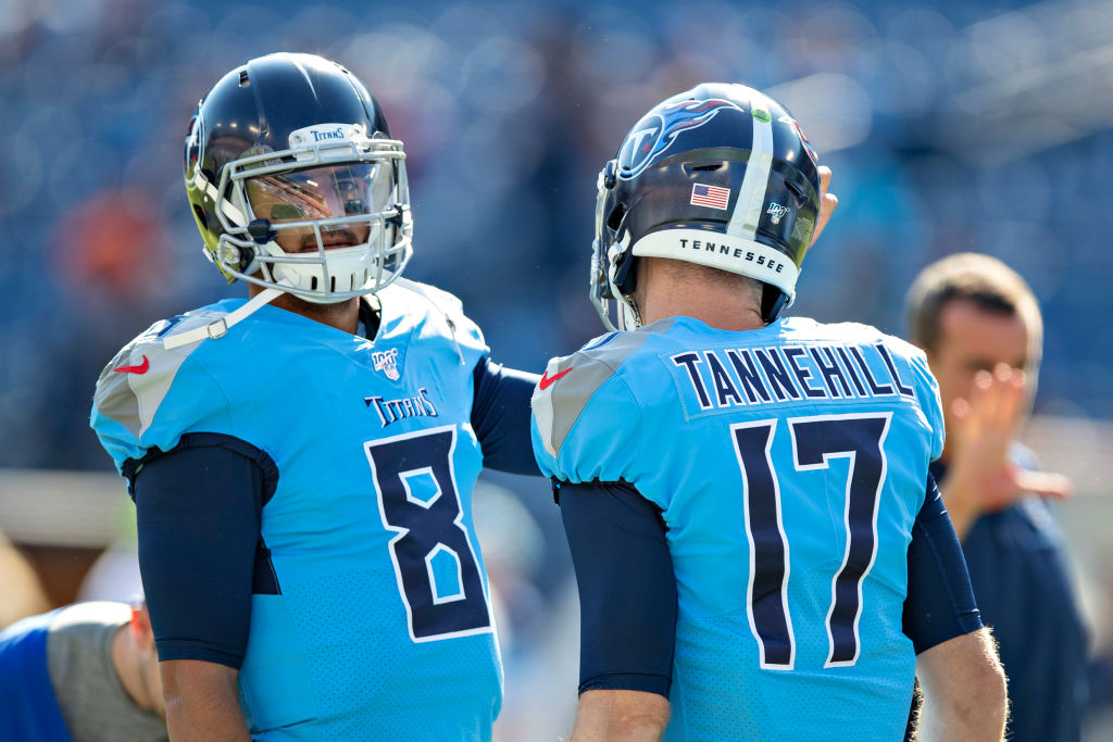 Marcus Mariota (left) and Jameis Winston have both struggled in the NFL, but one has a better chance to resurrect his career.