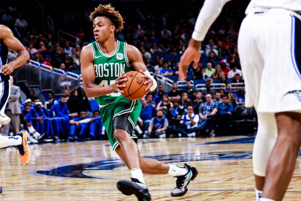Marcus Smart hilariously got the best of rookie teammate Romeo Langford in practical joke form.