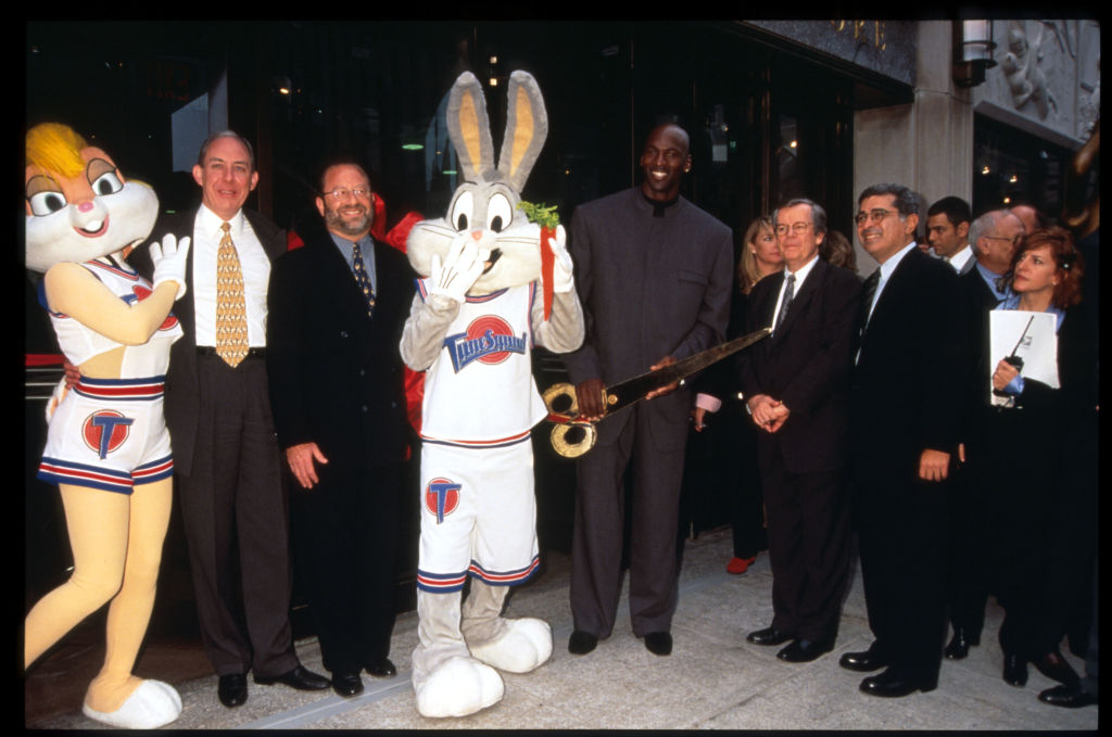 Chicago Bulls star Michael Jordan played basketball with Bugs Bunny in the movie Space Jam.