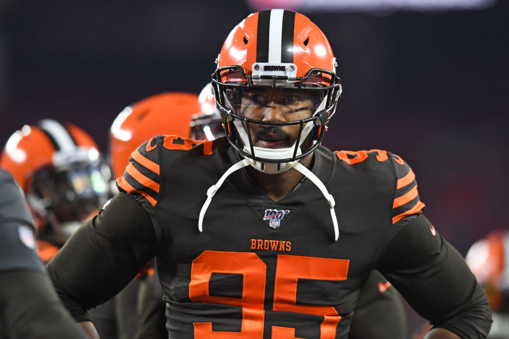 Cleveland Browns defensive end Myles Garrett is facing a massive NFL suspension.