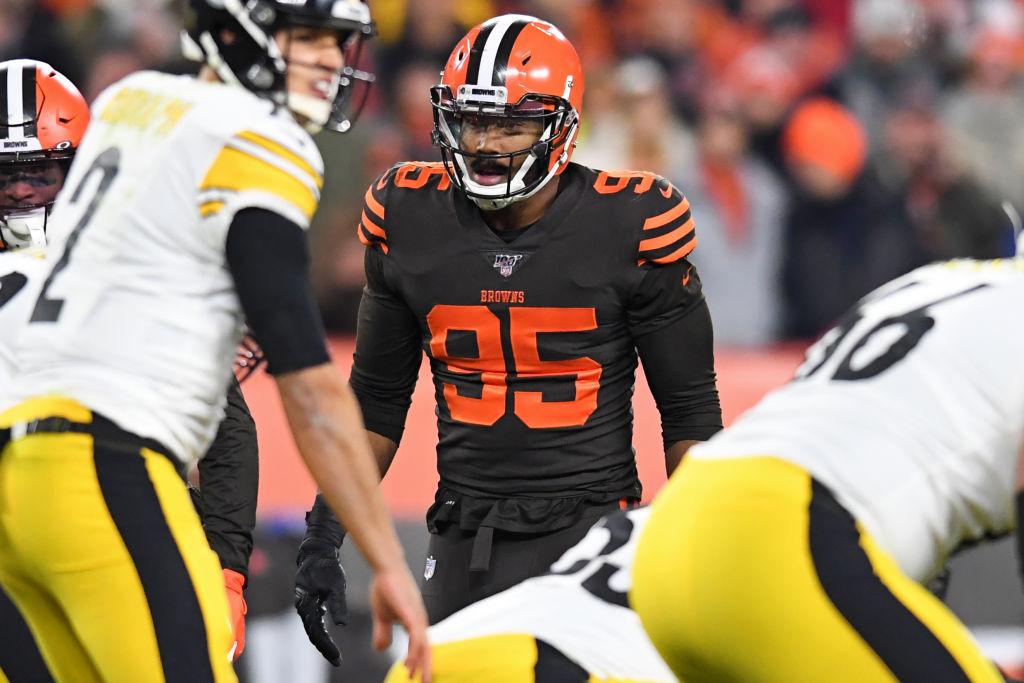 Browns' Myles Garrett and Steelers Mason Rudolph