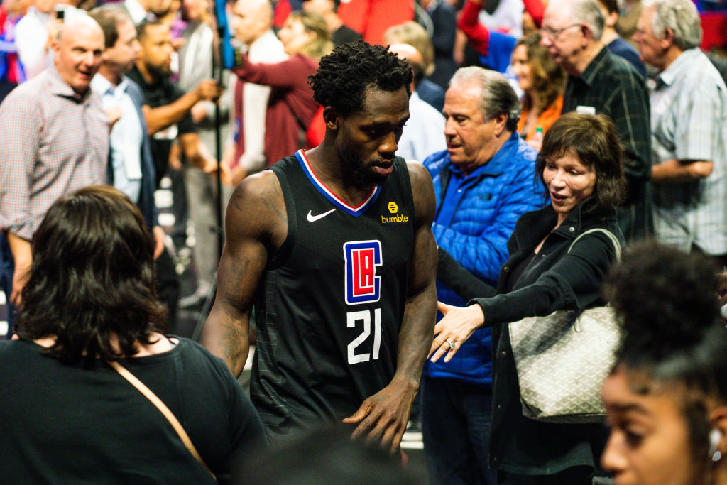 Patrick Beverly of the Los Angeles Clippers walks off the court after a game against the Golden State Warriors