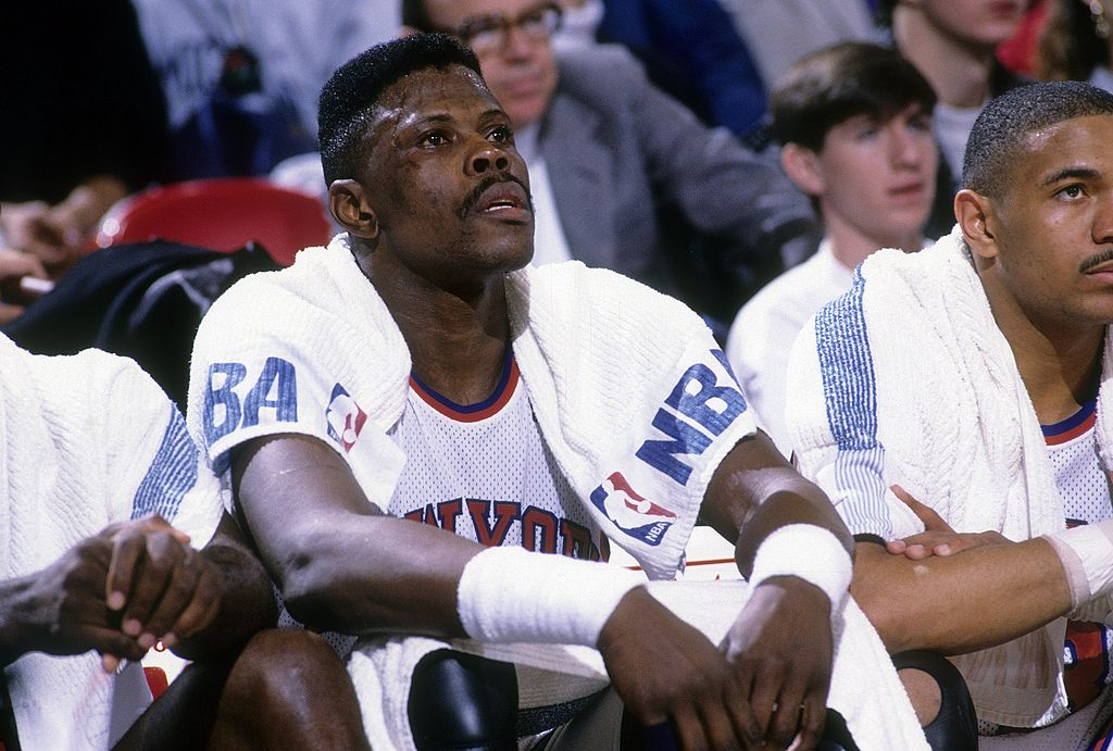 Patrick Ewing on the bench, where this bizarre theory suggests the team might want him to be