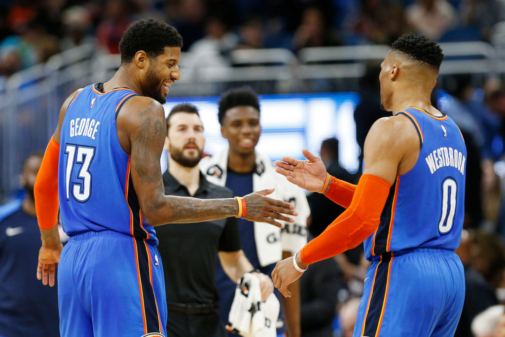 Paul George and Russell Westbrook got along great in Oklahoma City