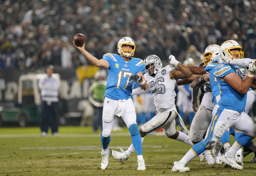 Los Angeles Chargers quarterback Philip Rivers has been an inconsistent fantasy football performer this season.