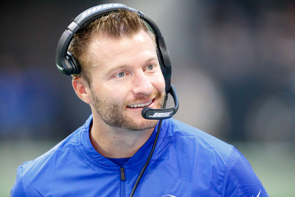Rams coach Sean McVay on the sidelines.