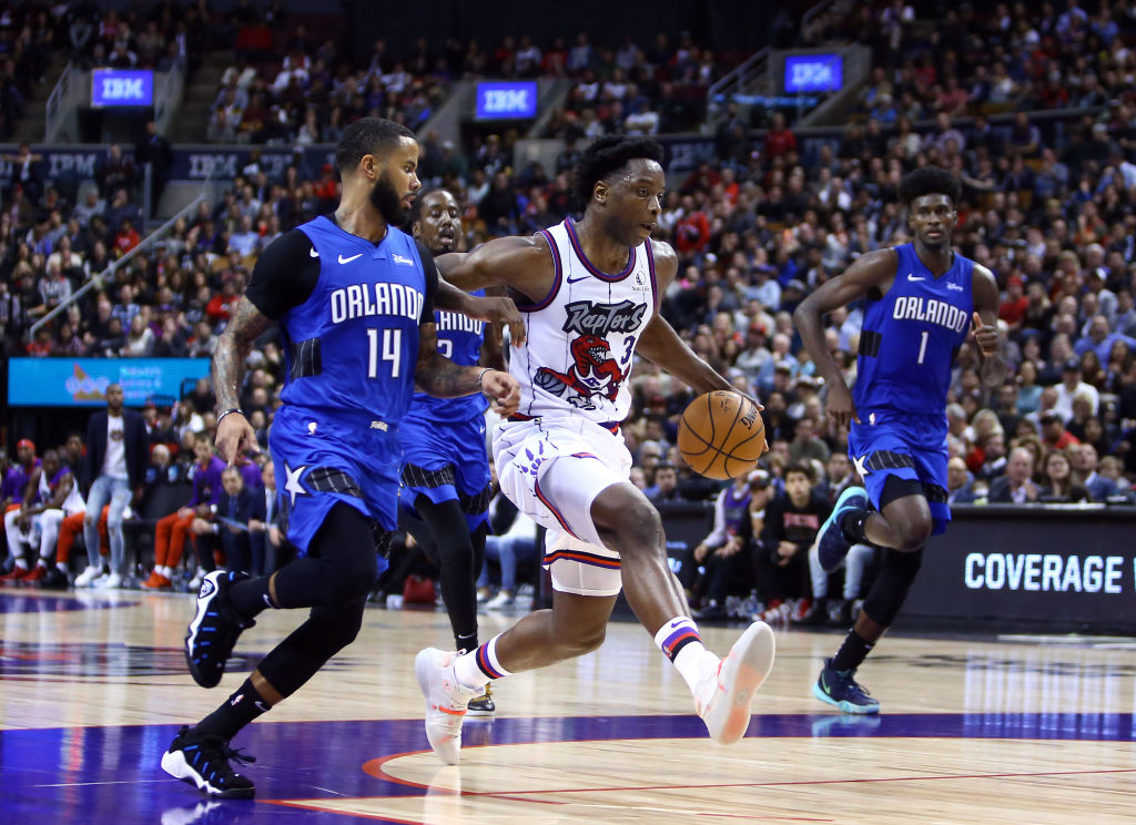 The Toronto Raptors will be playing without OG Anunoby in Portland.