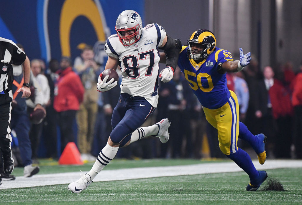 Rob Gronkowski won three Super Bowls with the New England Patriots