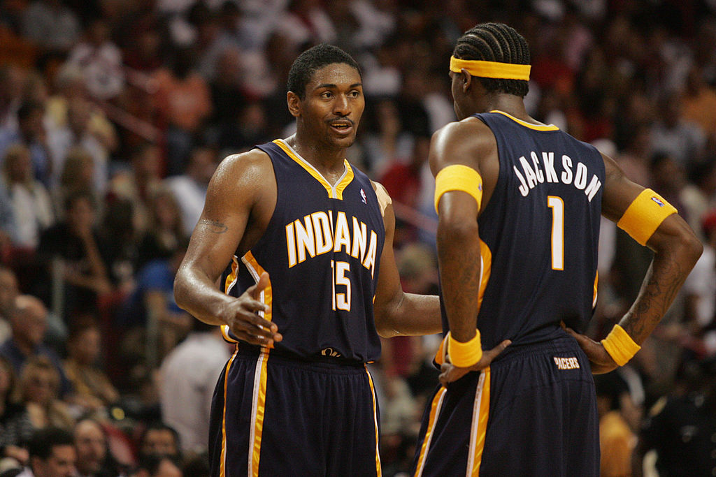 Ron Artest and Stephen Jackson were the first ones into the fray