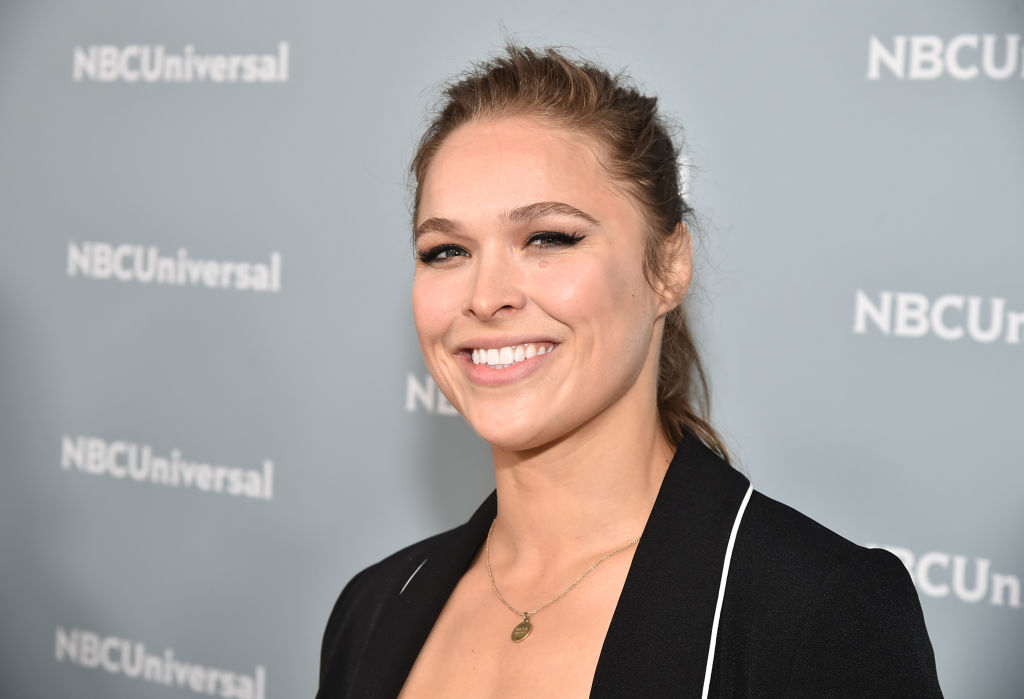 Ronda Rousey at a red carpet event.