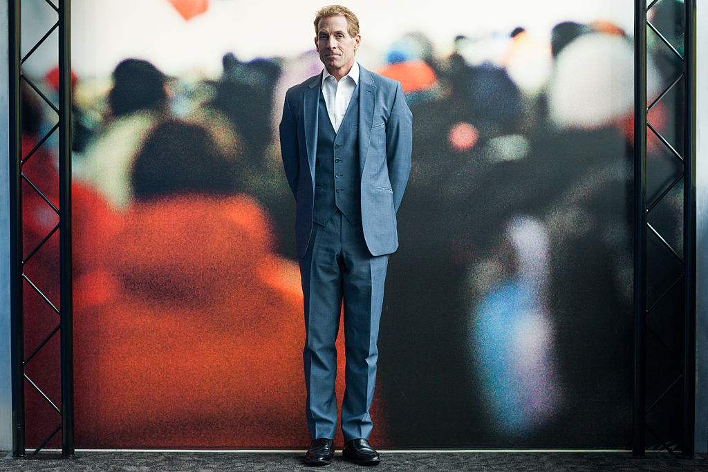 Sports journalist and TV personality, Skip Bayless is featured on First Take, ESPN2's daily sports talk show