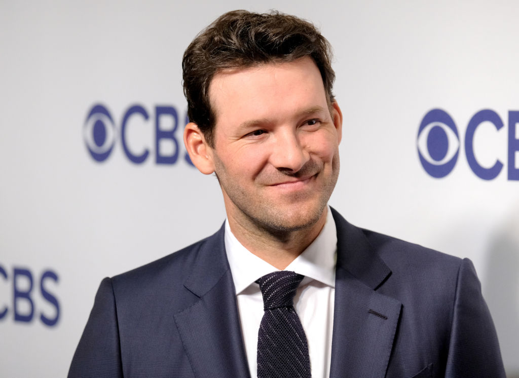 Tony Romo attends the 2018 CBS Upfront at The Plaza Hotel