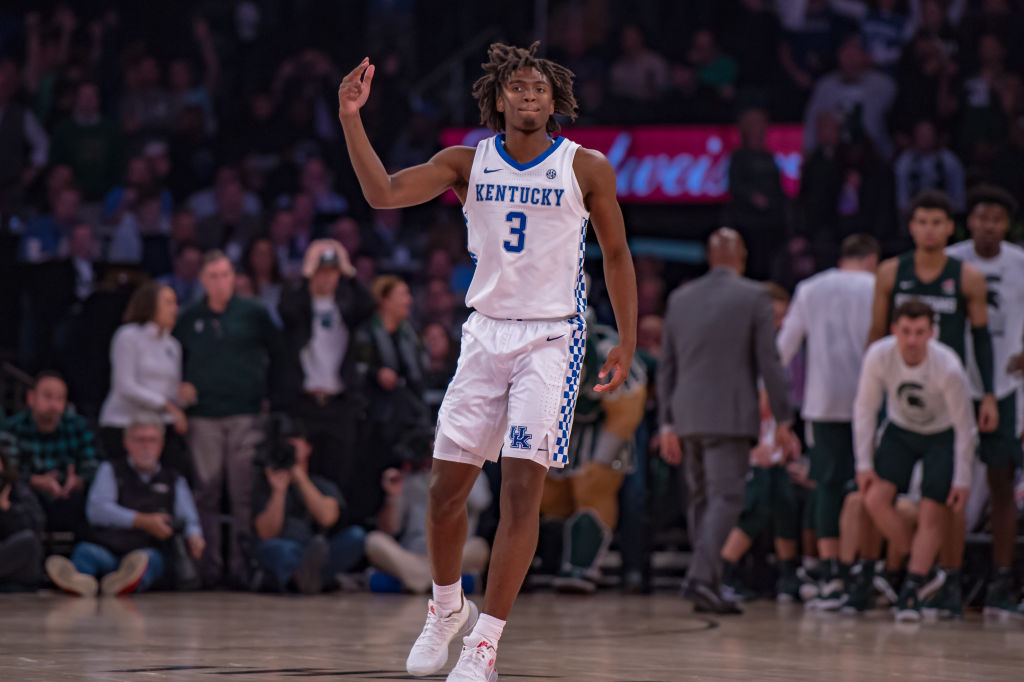 Tyrese Maxey celebrates his clutch shot at Madison Square Garden