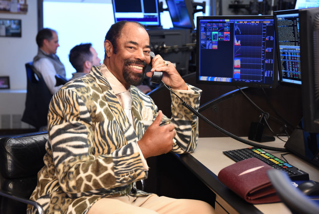 New York Knicks commentator Walt Frazier is know for his colorful language and suits.