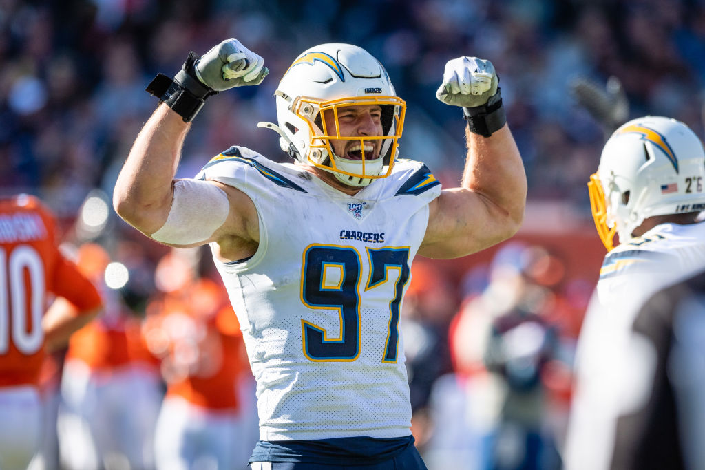 Joey Bosa (pictured) and younger brother Nick are NFL standouts, as are J.J. Watt and his two brothers.