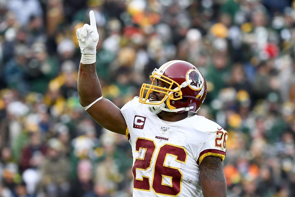 Redskins running back Adrian Peterson