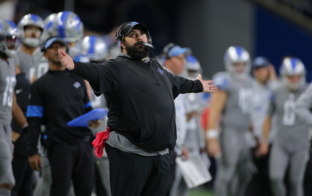 Lions coach Matt Patricia has a lot of NFL experience under his belt.