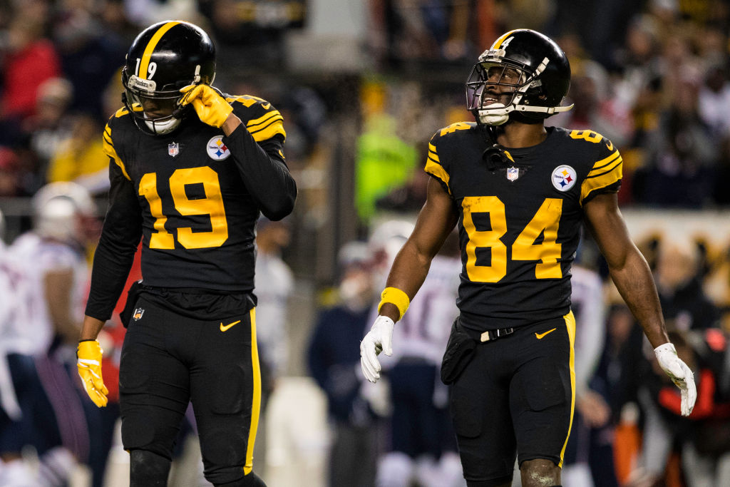 Former Pittsburgh Steelers teammates Antonio Brown and JuJu Smith-Schuster