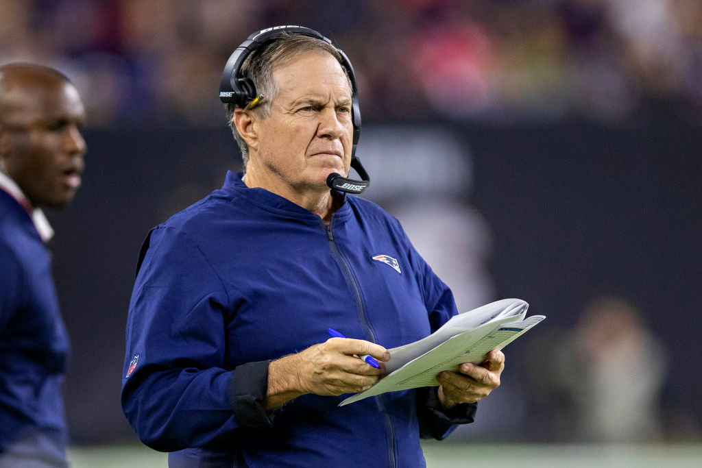 New England Patriots head coach Bill Belichick is a possible candidate to take over the Dallas Cowboys.
