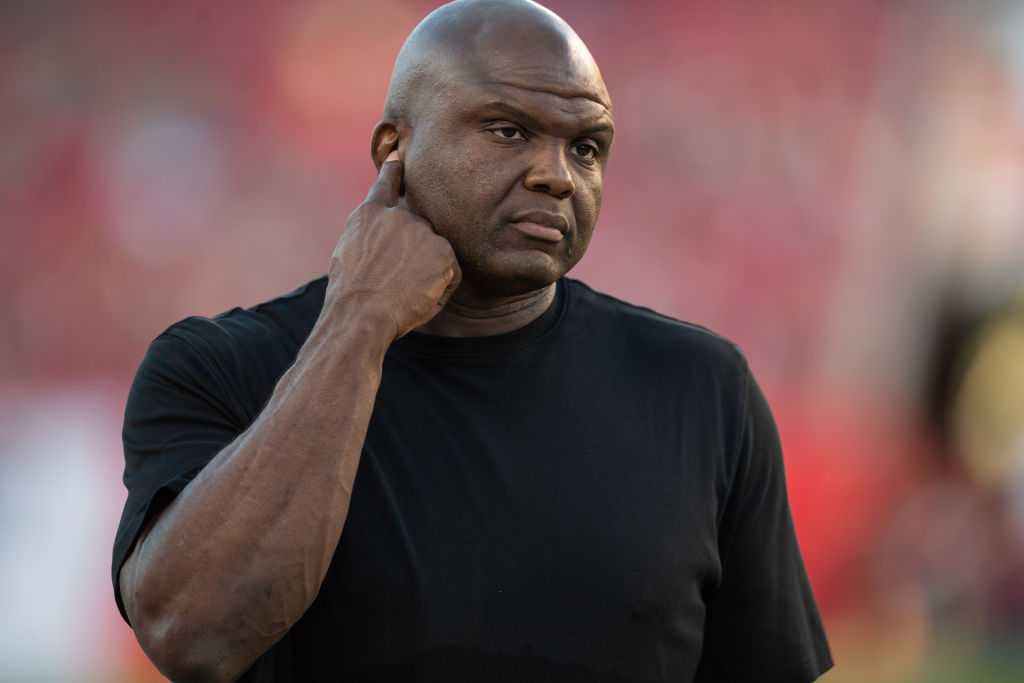 Booger McFarland serves as the color commentator on Monday Night Football.
