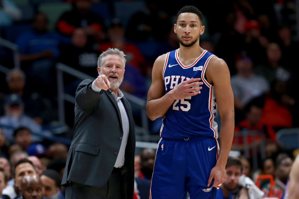 Ben Simmons and 76ers coach Brett Brown will be seeing a lot of each other over the next 18 months.