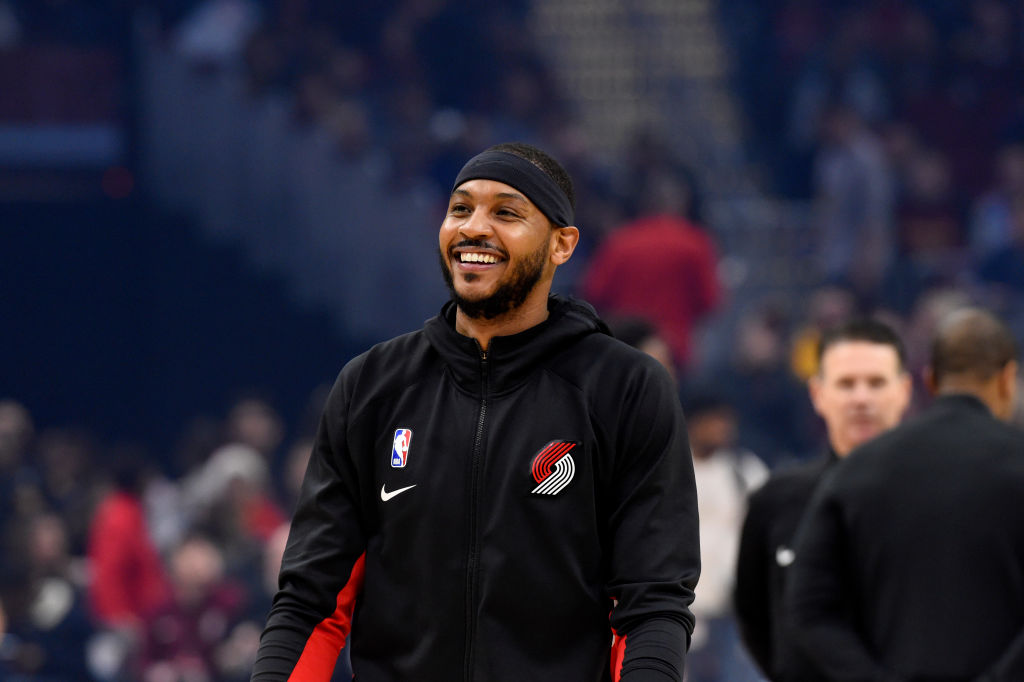 Blazers forward Carmelo Anthony