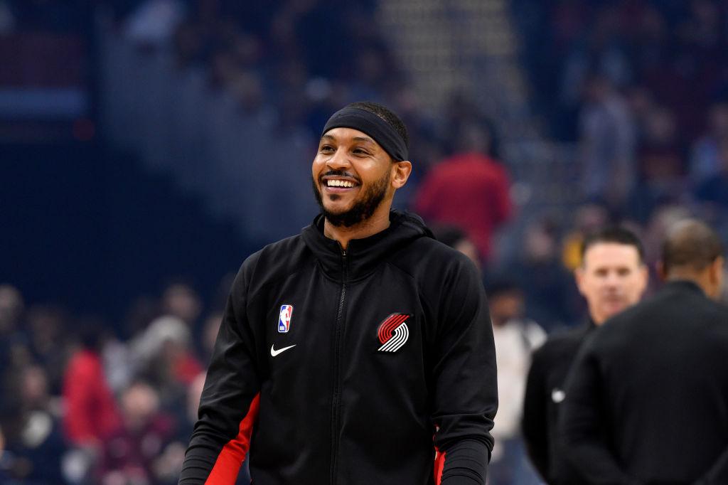 Blazers forward Carmelo Anthony