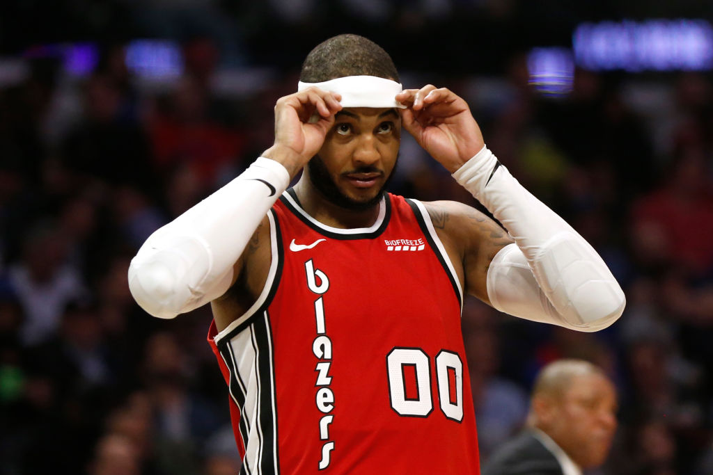 Carmelo Anthony almost retired before joining the Portland Trail Blazers.