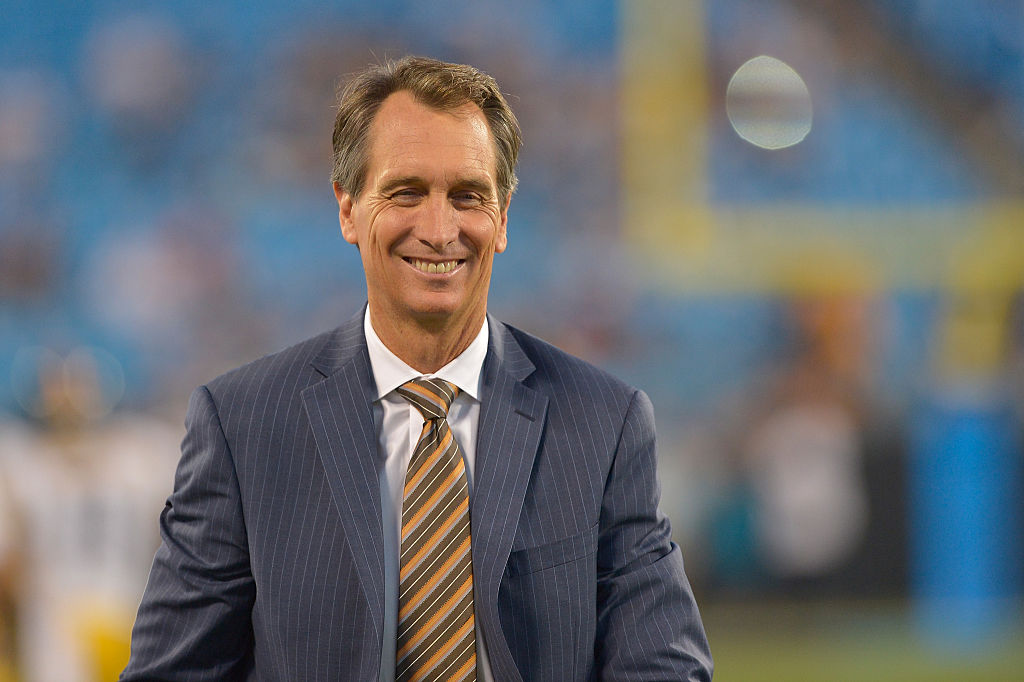 Sunday Night Football's Cris Collinsworth planned on attending law school, not becoming a broadcaster.