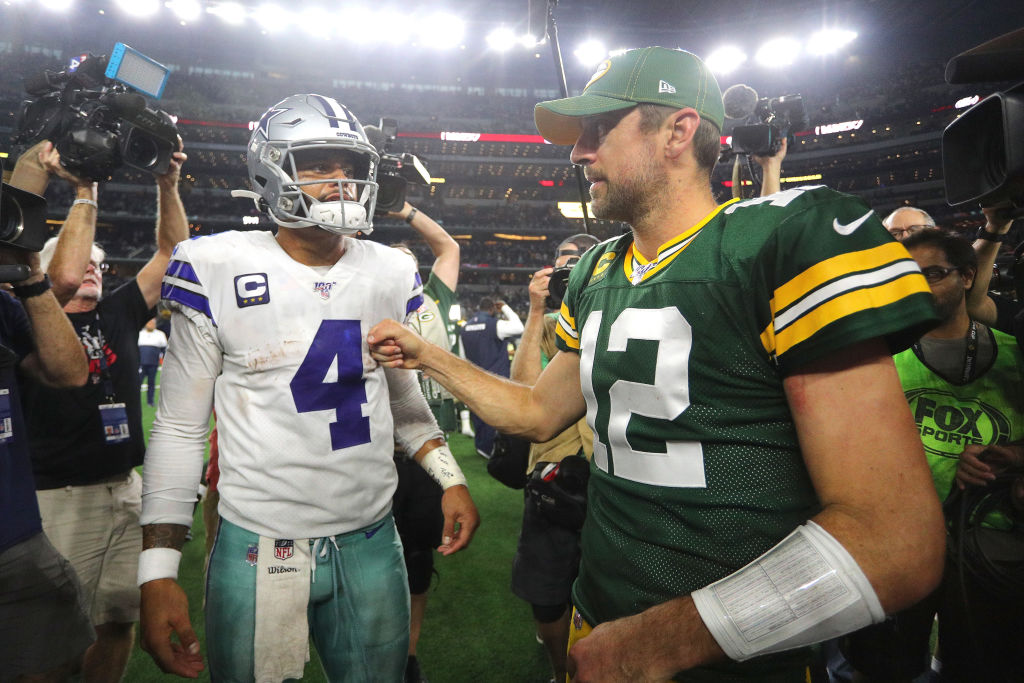 Packers quarterback Aaron Rodgers beat out Dallas' Dak Prescott for a place in the Pro Bowl.