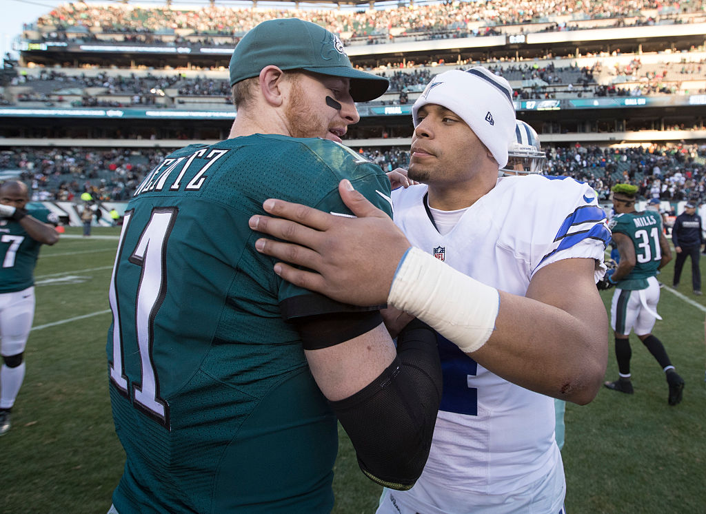 Carson Wentz and Dak Prescott will square off with the NFC East on the line in Week 16