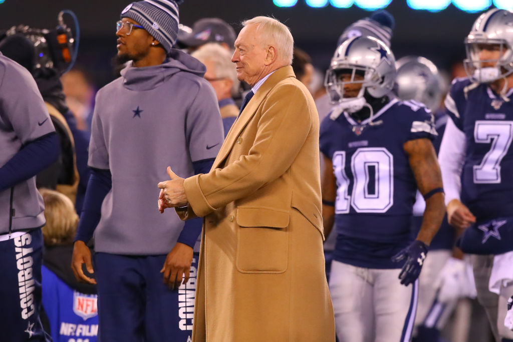 Dallas Cowboys owner Jerry Jones prior to a game