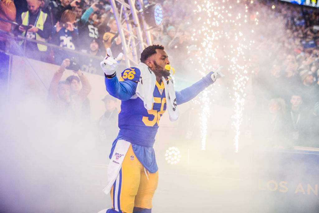 Rams linebacker Dante Fowler received a nice bonus at the end of 2019 in the form of repaid fine money he racked up with the Jaguars.