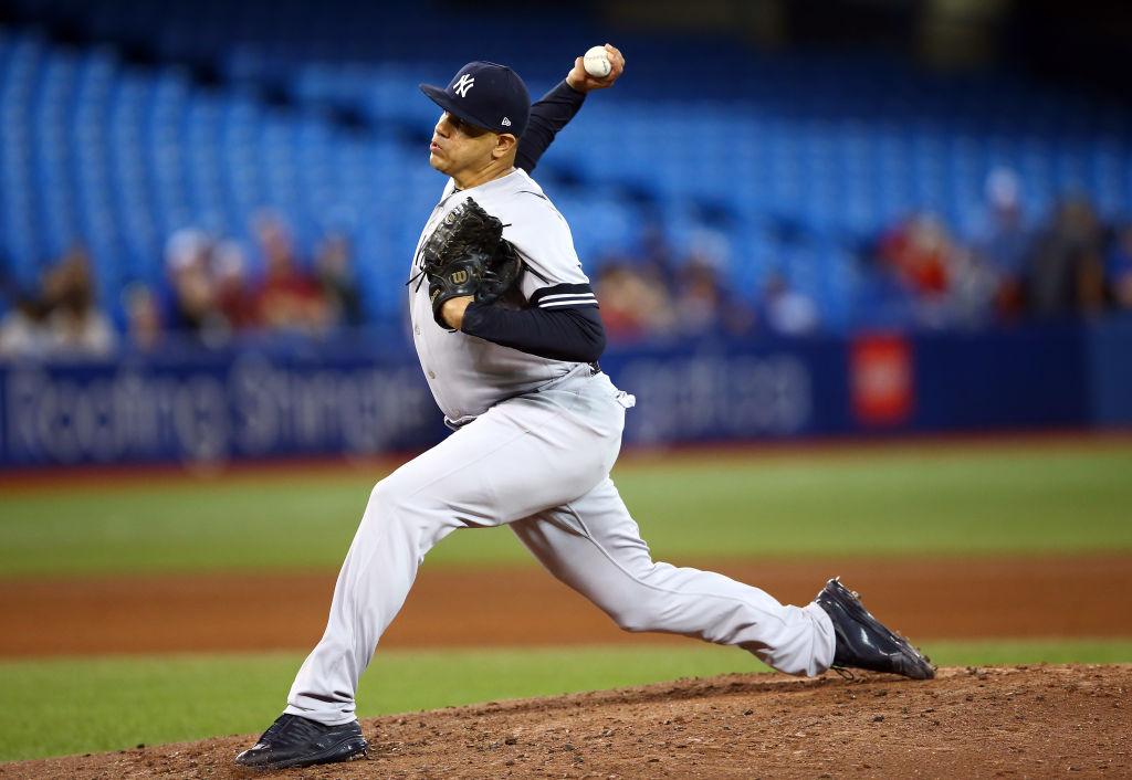 Former Yankees receiver Dellin Betances could solidify the New York Mets bullpen.