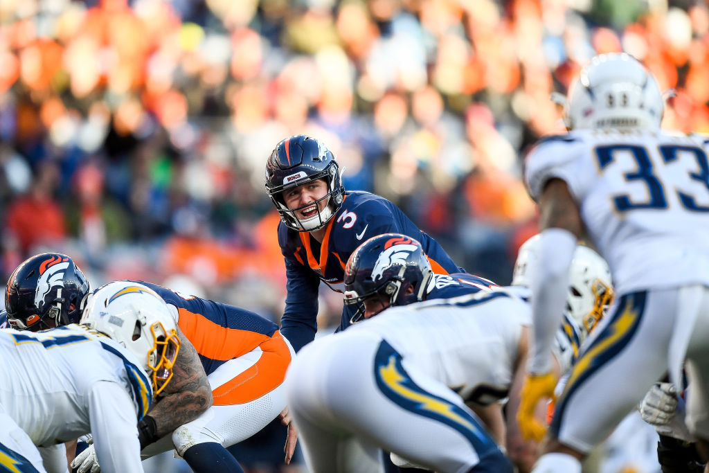 Drew Lock drew rave reviews from Peyton Manning for the way he played in his NFL debut.