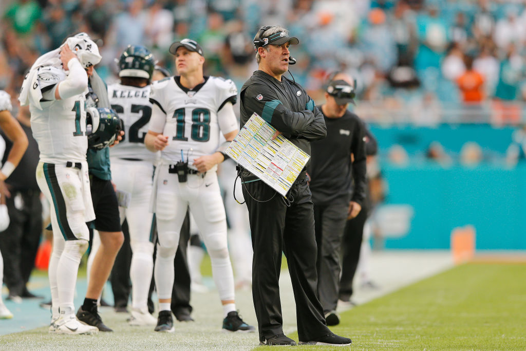 Head coach Doug Pederson's Philadelphia Eagles are in danger of missing the NFL playoffs.