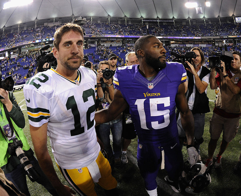 Greg Jennings (right) and Aaron Rodgers (left) were a dynamic duo in Green Bay, but one Rodgers comment still sticks with Jennings.