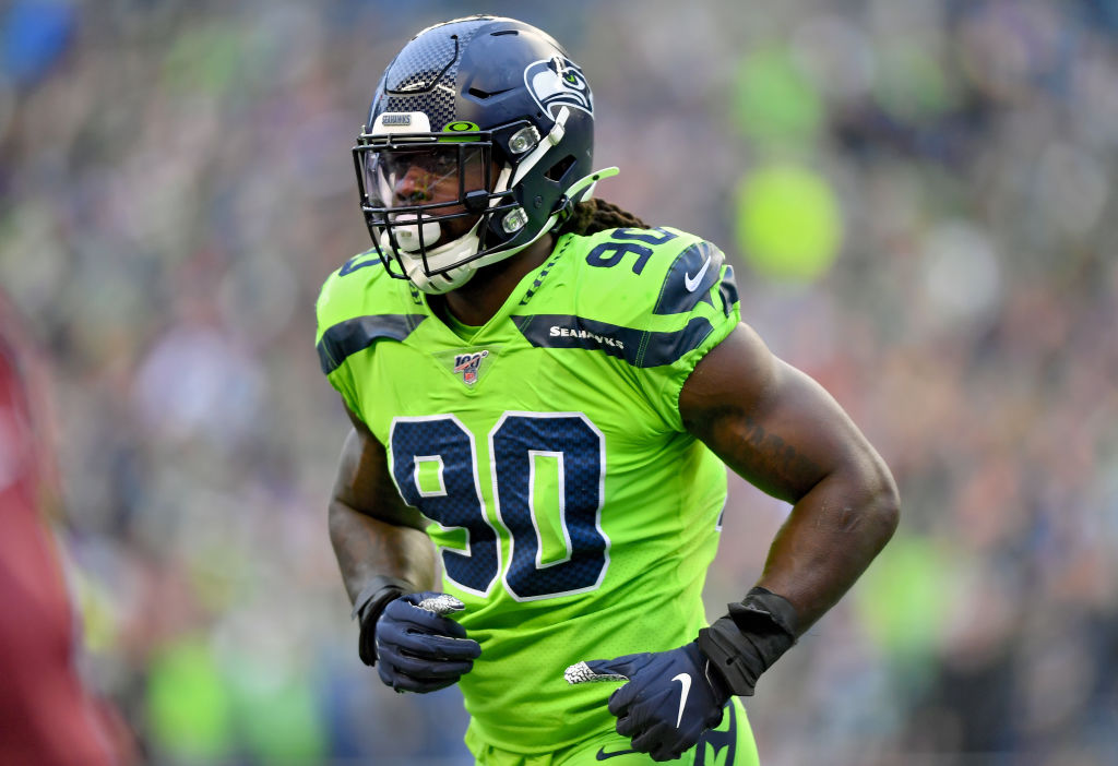 Seattle Seahawks defensive end Jadeveon Clowney is battling through an injury.