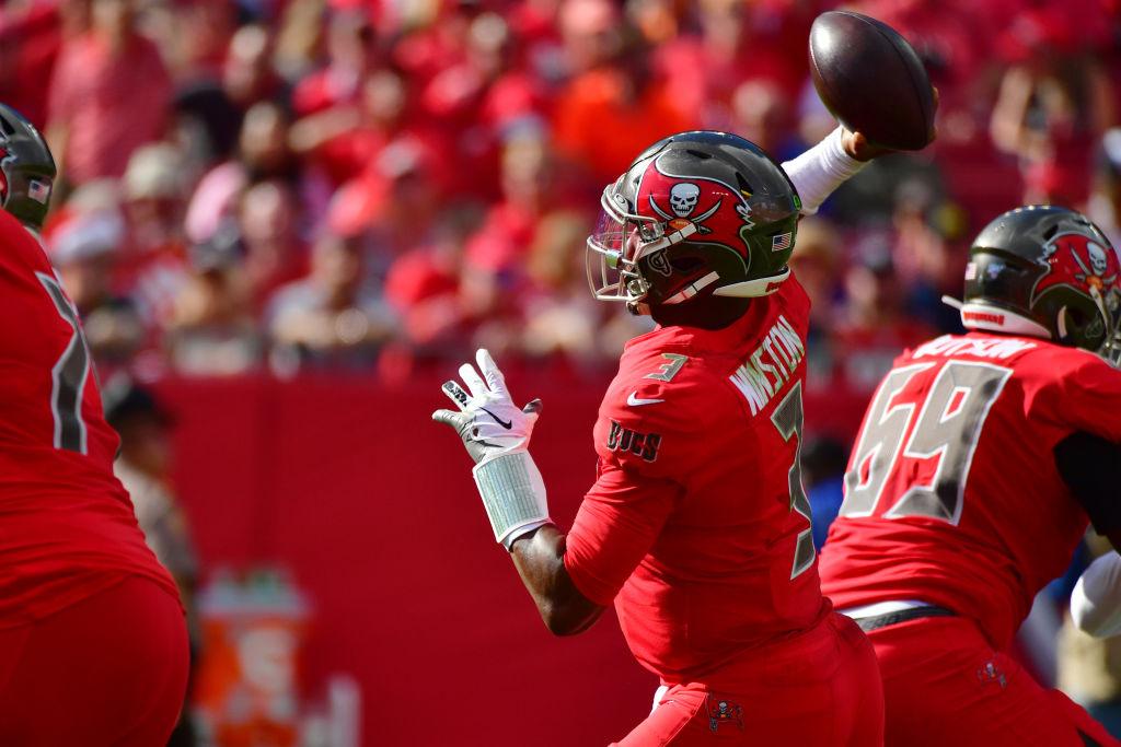 Tampa Bay Buccaneers quarterback Jameis Winston has struggled with interceptions this season.