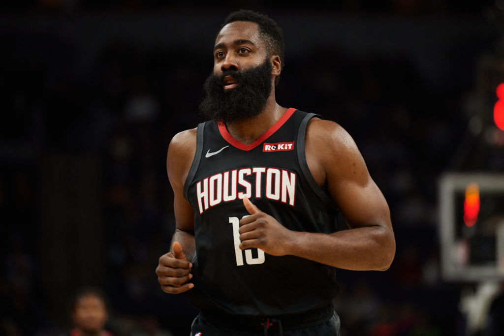 Rockets guard James Harden.