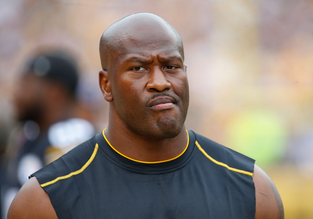James Harrison of the Pittsburgh Steelers in action in 2017